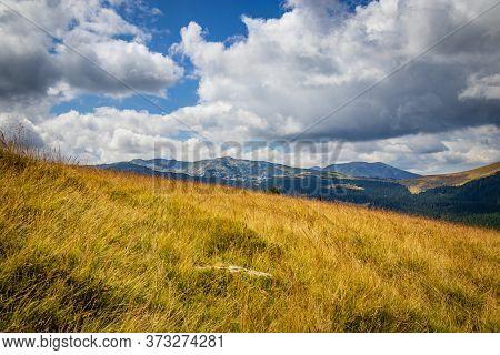 Transalpina Road View In Carpathian Mountains, Romania