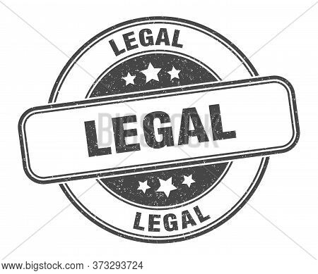Legal Stamp. Legal Round Grunge Sign. Label