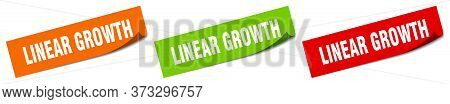 Linear Growth Sticker. Linear Growth Square Isolated Sign. Linear Growth Label