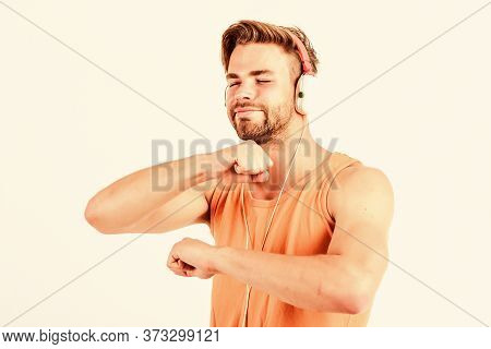 Music Is So Much Fun. Ebook And Online Education. Music Education. Sexy Muscular Man Listen Ebook. M