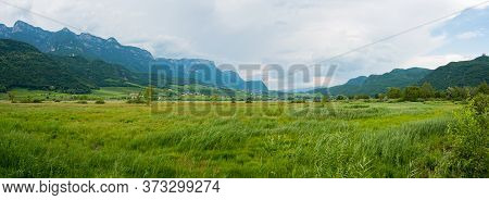 Panorama View Of A Cloudy Day In North Italy