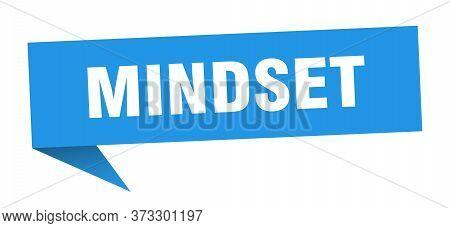Mindset Speech Bubble. Mindset Ribbon Sign. Mindset Banner