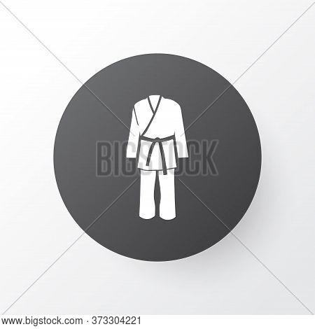 Karate Kimono Icon Symbol. Premium Quality Isolated Uniform Element In Trendy Style.