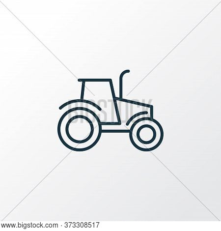 Tractor Icon Line Symbol. Premium Quality Isolated Agriculture Car Element In Trendy Style.