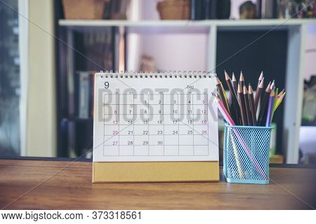 Calendar For Planner And Organizer To Plan And Reminder Daily Appointment , Meeting Agenda, Schedule