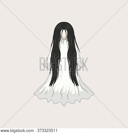 White Lady Cartoon Ghost Character