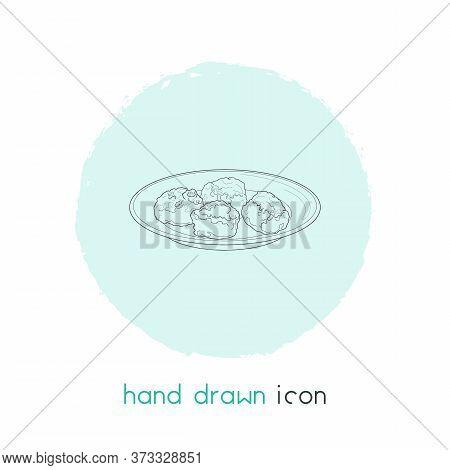 Danish Meatballs Icon Line Element. Vector Illustration Of Danish Meatballs Icon Line Isolated On Cl
