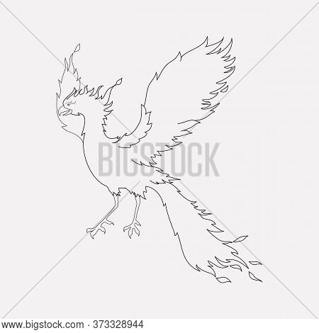 Phoenix Icon Line Element. Vector Illustration Of Phoenix Icon Line Isolated On Clean Background For