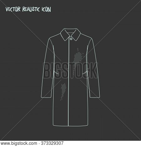 Dirty Coat Icon Line Element. Vector Illustration Of Dirty Coat Icon Line Isolated On Clean Backgrou