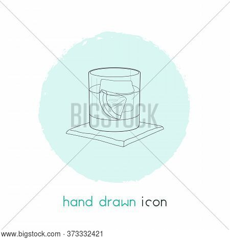 Old Fashioned Cocktail Icon Line Element. Illustration Of Old Fashioned Cocktail Icon Line Isolated