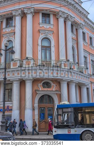 Russia, St. Petersburg 17,03,2019 Chicherin House - House Of Merchants Eliseev, Old House On Nevsky