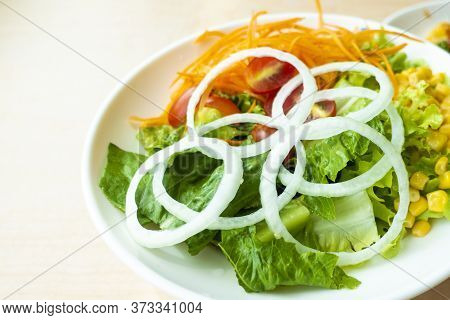 Colorful Vegetables Salad Is Ready To Eat