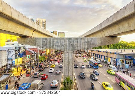 Bangkok, Thailand- 09/07/2019 ; Street View From Bts Ha Yaek Ladprao, Bangkok