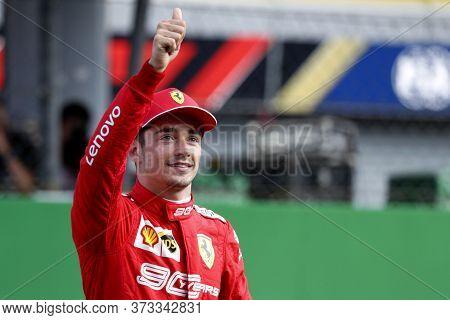 Monza, Italy. 6-8 September 2019. Formula 1 Grand Prix Of Italy. Charles Leclerc Of Scuderia Ferrari