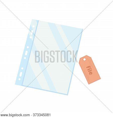 Plastic Cellophane Business File. A4 Size. Sheet Folder. Empty Plastic Bag. Document Protector. Tran