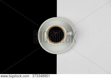 Black Refreshing And Energising Tea In A White Mug On A Table