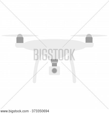 Drone Quadcopter With Camera Icon Illustration Vector