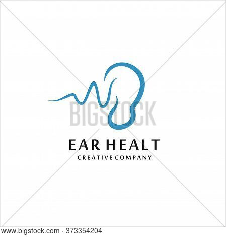 Hearing Logo Template Vector Icon Illustration Design, Ear Icon. Logo Element Illustration. Ear Symb