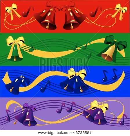 Christmas Bell Banners is original artwork. The vector file is in AI-EPS8 format. poster