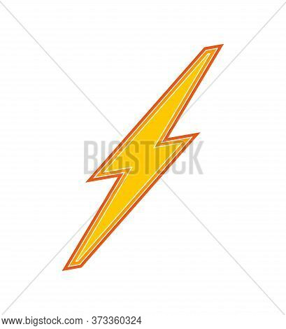 Lightning Bolt Flash Icon Sign .electricity Power With Lightning Bolt Flash Sign