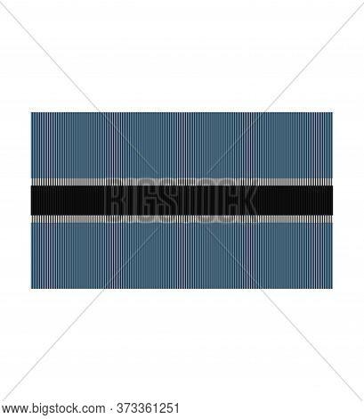 Flag Of Botswana .thenational Flag Of Botswana