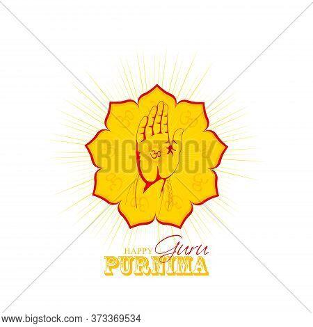Vector Illustration For Guru Purnima Celebration Day - Vector