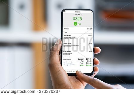 African Woman E Invoice Statement And Payroll App