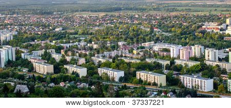 Typical socialist block of flats in Hungary ( tatab�¡nya )