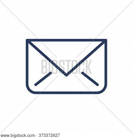 Unread Message Thin Line Icon. Close Envelope, Email, Correspondence Isolated Outline Sign. Messenge