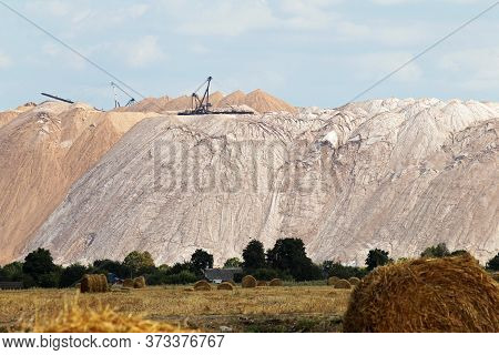 Huge Mountains Of Waste Ore In The Extraction Of Potassium.