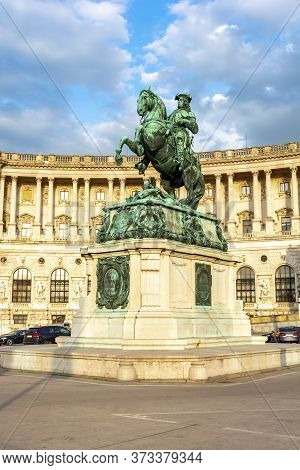 Hofburg Palace And Statue Of Prince Eugene On Heldenplatz Square, Vienna, Austria