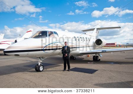 Businessman At Corporate Jet
