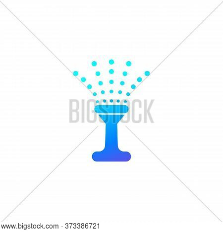 Water Sprinkler Icon On White, Vector, Eps 10 File, Easy To Edit