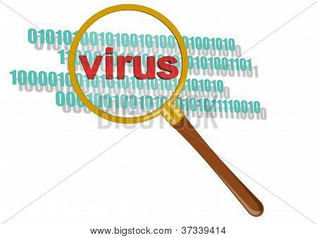 Virus In Magnifier
