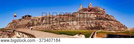 Cartagena, Colombia, 12.15.2018, El Castillo De San Felipe De Barajas In Cartagena