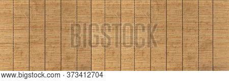 Panorama Of Pattern Of Bamboo Blinds Texture And Seamless Background