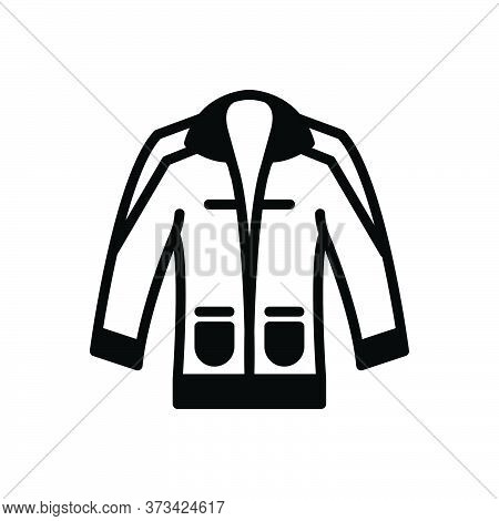 Black Solid Icon For Clothing Dress Costume Attire Raiment Garment