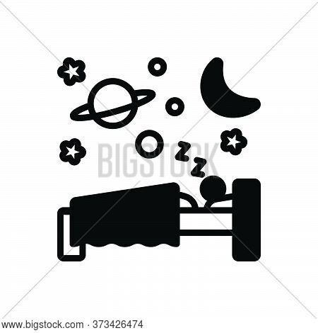 Black Solid Icon For Sleep Slumber Somnolence Shut-eye Dormancy Blink