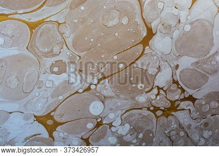 Abstract Marble Pattern Texture. Traditional Art Of Ebru Marbling