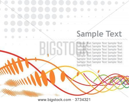 wave halftone sample text background vector illustration poster