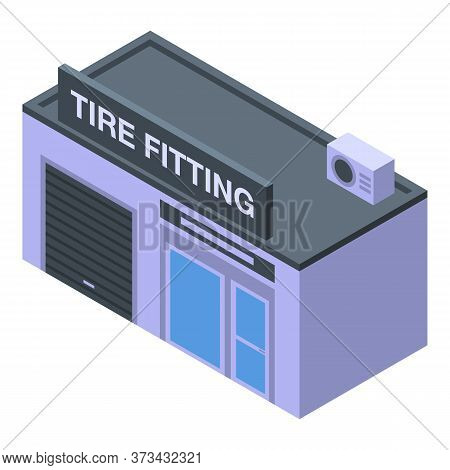 Tire Fitting Service Icon. Isometric Of Tire Fitting Service Vector Icon For Web Design Isolated On