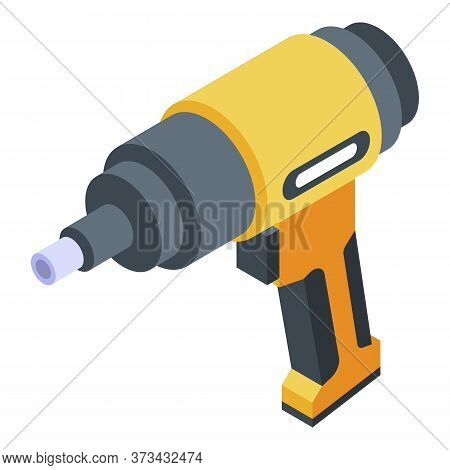 Tire Fitting Screwdriver Icon. Isometric Of Tire Fitting Screwdriver Vector Icon For Web Design Isol