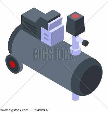 Cold Air Compressor Icon. Isometric Of Cold Air Compressor Vector Icon For Web Design Isolated On Wh