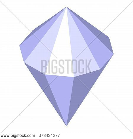 Crystal Gemstone Icon. Isometric Of Crystal Gemstone Vector Icon For Web Design Isolated On White Ba
