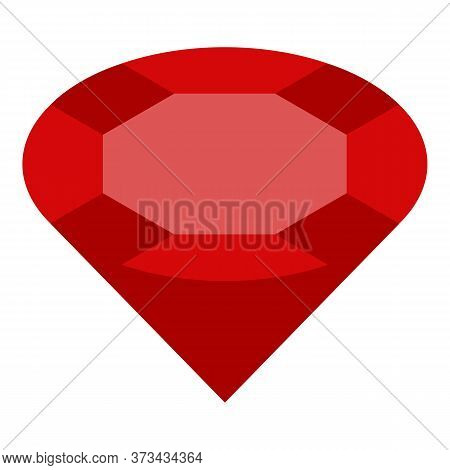 Pure Red Ruby Icon. Isometric Of Pure Red Ruby Vector Icon For Web Design Isolated On White Backgrou