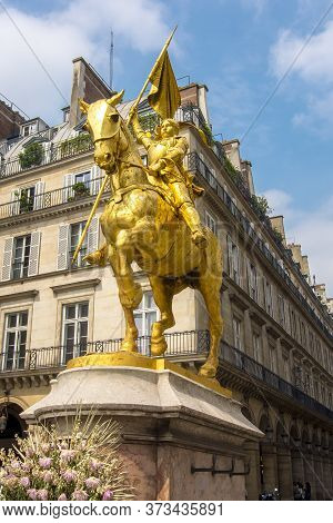Joan Of Arc Monument In Paris, France