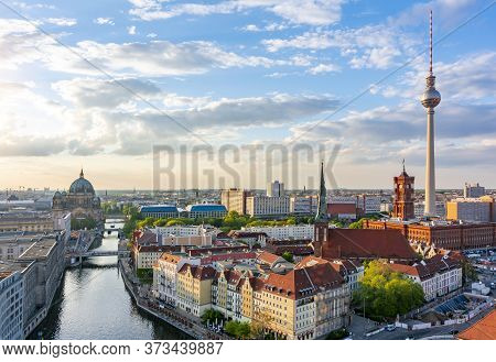 Berlin Cityscape With Berlin Cathedral And Tv Tower, Germany