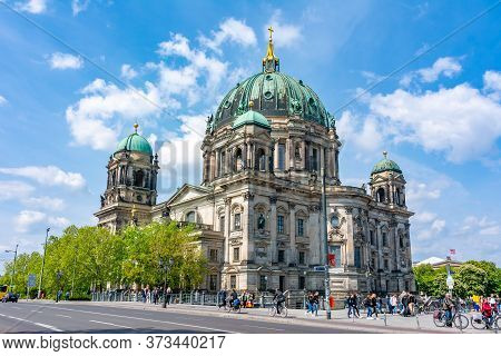 Berlin, Germany - May 2019: Berlin Cathedral (berliner Dom) On Museum Island