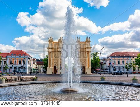 Brandenburg Gate (brandenburger Tor) In Center Of Potsdam, Germany