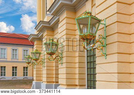 Lamps On Charlottenburg Palace Facade, Berlin, Germany